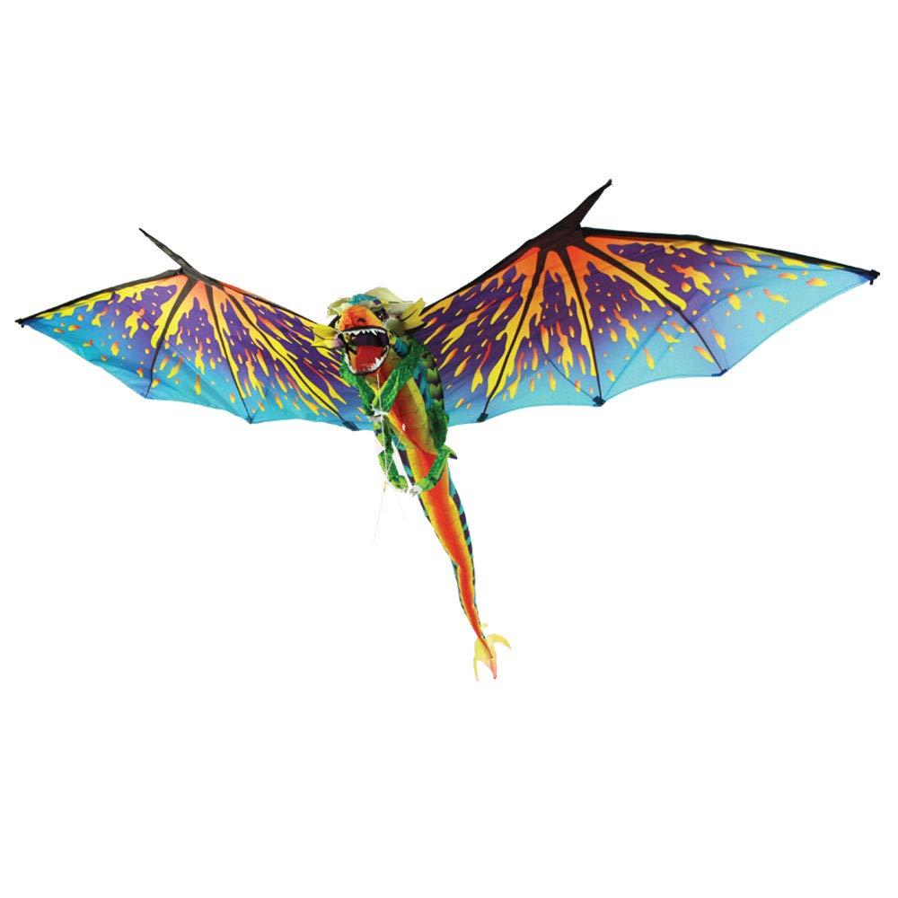Brainstorm Dragon WindnSun 3-D Nylon Kite, 76''