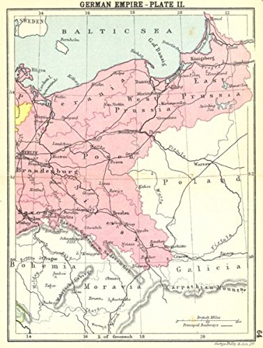 Amazon.com: GERMANY. German Empire Plate II; Small map   1912