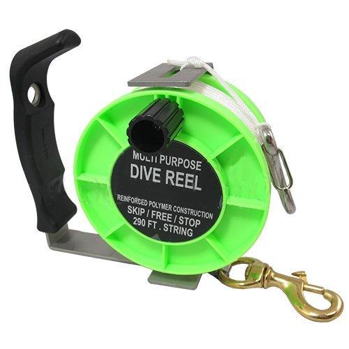 Scuba Choice Scuba Diving Stainless Steel Heavy Duty Multi-Purpose Dive Reel, 290' by Scuba Choice