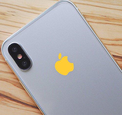 Yellow Color Changer Overlay for Apple iPhone X Logo Vinyl Sticker Decal (Logo Apple Mug)