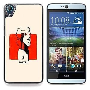 """Qstar Arte & diseño plástico duro Fundas Cover Cubre Hard Case Cover para HTC Desire 826 (Portal del cartel"""")"""