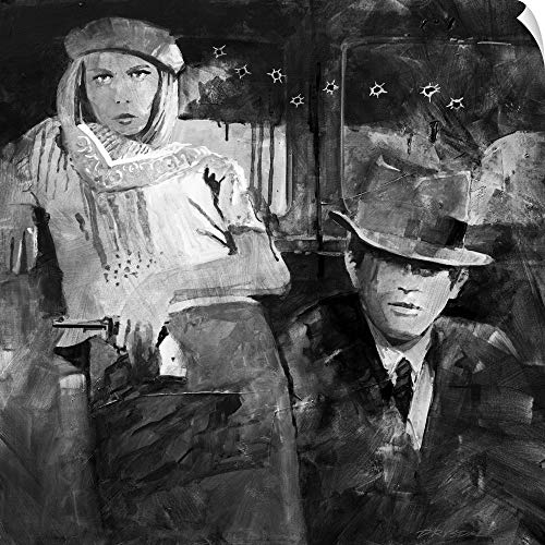 CANVAS ON DEMAND Bonnie and Clyde Wall Peel Art Print, 35