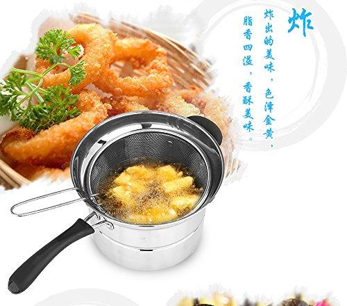 Amazon.com: Multi-Functional Noodles Pot Fry Pan Tempura Fryer Steamer Double-Layer Pot: Kitchen & Dining