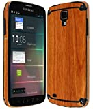 Skinomi TechSkin - Samsung Galaxy S4 Active Screen Protector + Light Wood Full Body Skin / Front & Back Premium HD Clear Film / Ultra Invisible and Anti Bubble Shield