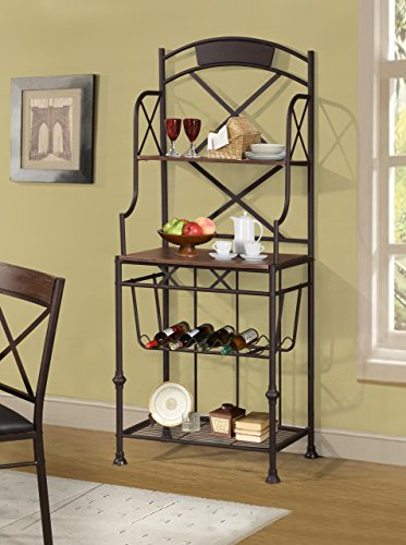 Home Source Baker's Rack, Brown by Home Source