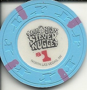 $1 mahoney's silver nugget hotel las vegas casino chip vintage