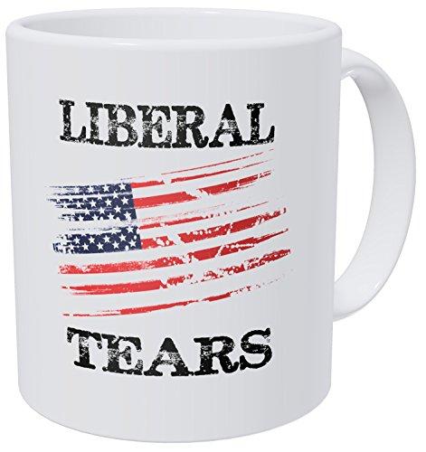 Wampumtuk Liberal Tears American Flag Republican 11 Ounces Funny Coffee Mug