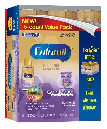 Enfamil Gentlease Infant Formula, Ready to Use, 8 Fl OZ Bott