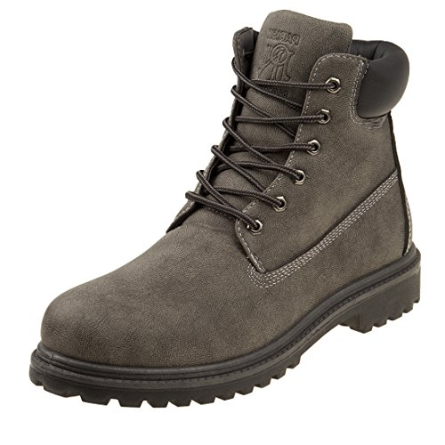 PARISH NATION Boys Lace Up Work Boot, Grey, Size 13 M US Little Kid'
