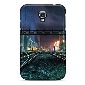 Tpu Case Cover For Galaxy S4 Strong Protect Case - Night City Design