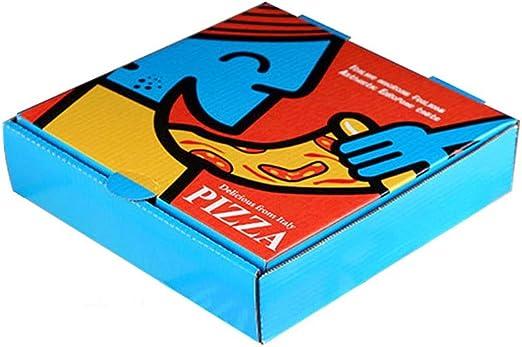 FGSJEJ Desechable Caja de Pizza, de Color Corrugado Caja, Caja de Embalaje for Llevar, Snack Food Packaging Caja, Caja de Almacenamiento de Alimentos, 100pcs, 7