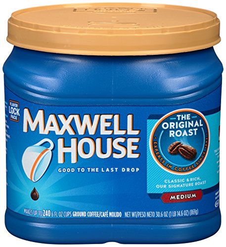 Maxwell House Original Blend Ground Coffee, Medium Roast, 30.6 Ounce Canister