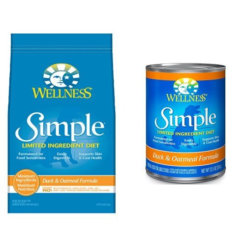 Wellness Well Pack: Simple Limited Ingredient Diet Duck Natural Wet Canned & Dry Dog Food (Wellness Limited Ingredient)