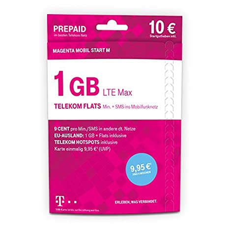 telekom hotspot karte Telekom MagentaMobil Start M Prepaid Karte mit 1 GB: Amazon.de