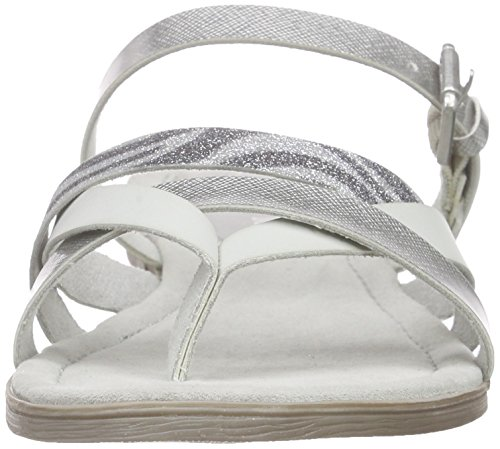 213 Open com Ant Marco WoMen Grau Toe Tozzi Sandals 27106 Grey Quartz axZPtS
