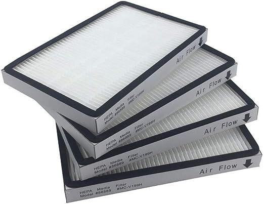 Ewendy - Juego de 4 filtros Hepa de repuesto para purificador de ...