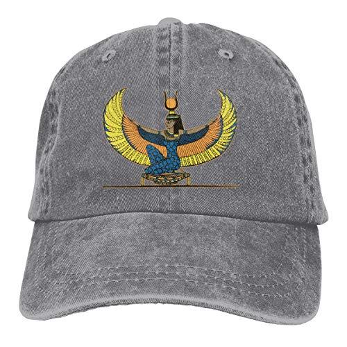2 Pack Egyptian Goddess Isis Adjustable Baseball Cap Denim Hat for Women and Men