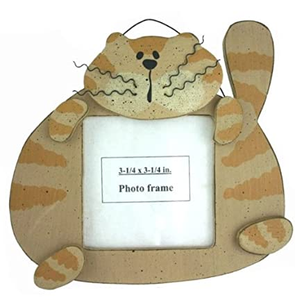Amazon Fat Cat Tiger Striped Crazy Kitten Wood Hanging Picture