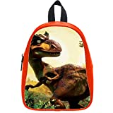 Custom Ice Age Dawn of the Dinosaurs Backpack Students School Bag Outdoor Backpack OrangeRed L