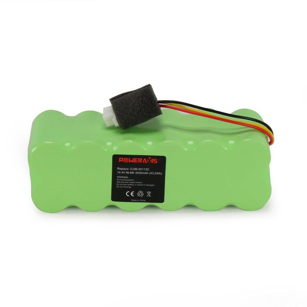 POWERAXIS Aspiradora Batería de NI-MH 14.4V 3000mAh para Samsung Navibot VCR8895 SR8855 SR8825 SR8845 DJ96-00113A DJ9600113A DJ96-00113C DJ96-0083C ...