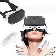 Casque de réalité virtuelle 3d, Bevifi VR Lunettes/casque avec télécommande et demi Coque transparente pour iPhone 7/7Plus/6/6S Plus/SE/5S, Samsung Galaxy S7edge/S7/S6/A5/A32016et autres 3.5–15,2cm téléphones portables