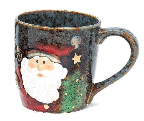 Yuletide Charms Collection 18 Ounce Santa Face Marbleized...