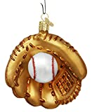 Old World Christmas Baseball Mitt Glass Blown Ornament