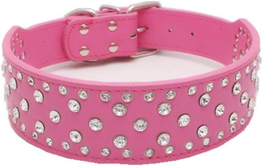 fafagogo2216gogo Collar De Perro Collar De Perros Grandes Accesorios De Diamantes De Imitación Mascotas Collar De Productos Personalizado para Collares De Perros Grandes Collar Labrador Galgo Hond,