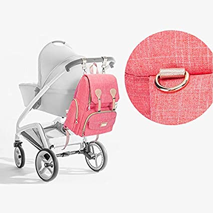Large Capacity Come with Baby Bottle Bag /& 2 Stroller Strip for Mum Dad Baby Changing Bag Stylish Waterproof and Durable HowiseAcc Nappy Diaper Backpack with USB Charging Port