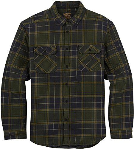 - Burton Men's Brighton Insulated Flannel Top, Forest Night Rowan, Large