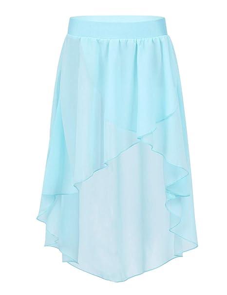 Agoky - Falda de Princesa para niña, Muselina de Seda, Falda de ...