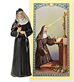 "Saint Rita Patron of Abused Women 4"" Statue Includes a Hematite Finger Rosary and a Blessed Prayer Card"