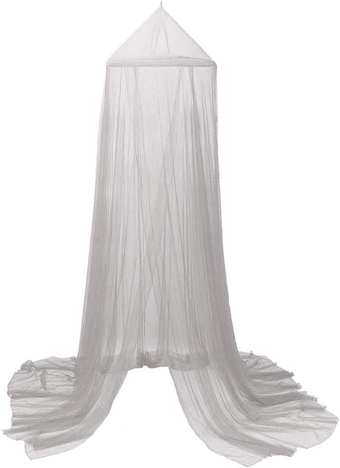 Mosquito Net Canopy White 2 Layer Polyester Grenadine Dome Princess Bed Tents Dreamy Childrens Room Decorate for Baby Kids Play Indoor Games House Reading