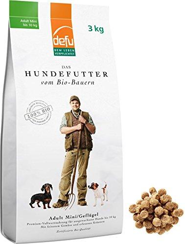 defu Bio Futter für Hunde kleiner Rassen Geflügel 3 kg, 1er Pack (1 x 3 kg)