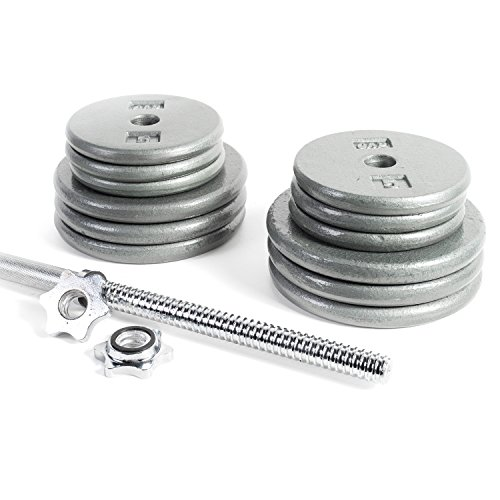 CAP Barbell Standard 1 Inch Barbell Weight Set,