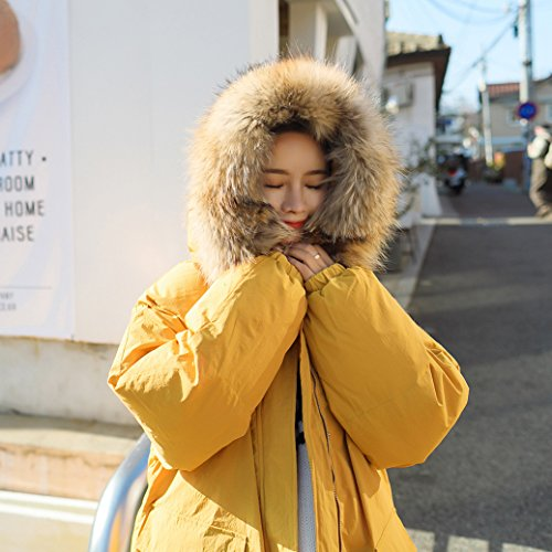 Winter Wear Yellow Sfilata Dress Cotton Down 1011 Lemon Giacca Lunga Addensare Xuanku 61SqwnBq