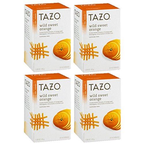 (Tazo Wild Sweet Orange Herbal Tea, 20 ct(Pack of 4))