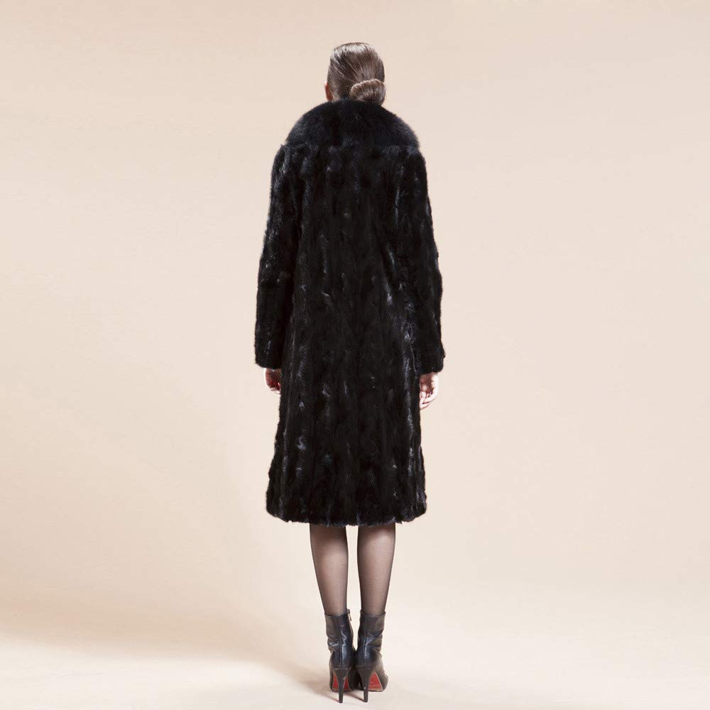 LUCKYCAT Abrigos de Invierno Mujer Chaqueta Abrigo Moda Piel de ...