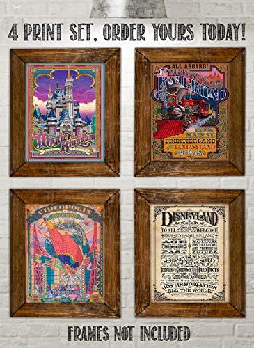 Best of Disneyland-Vintage Sign Prints-(4) 8 x10's-