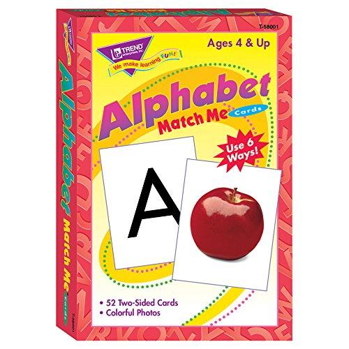 (TREND enterprises, Inc. T-58001BN Alphabet Match Me Cards, 6 Sets)