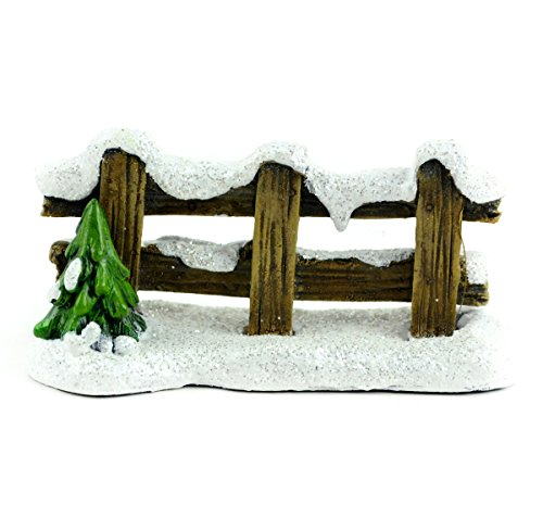 Snow Covered Fence - Touch of Nature Snow Covered Wood Fence 4inch