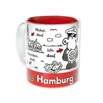 Steingut 8 cm Sheepworld 61042 Ohne Augsburg ist alles doof 30 cl Tasse Mehrfarbig