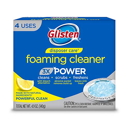 Glisten Disposer Care Foaming Cleaner, Lemon Scent, 4 Use (Time Adventure Pipe)
