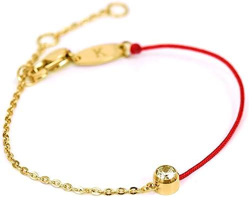 Amazon.com: ZUOPIPI - Elegante pulsera de cadena roja con ...