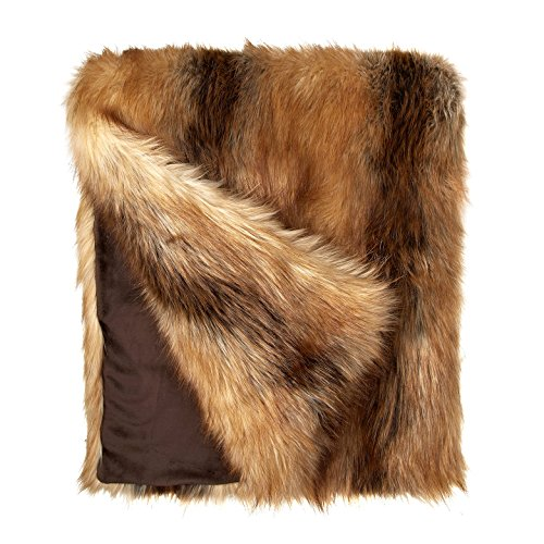 Fabulous Furs: Faux Fur Luxury Throw Blanket, Red Fox, Available in generous sizes 60''x60'', 60''x72'' and 60''x86'', by Donna Salyers by Donna Salyers' Fabulous-Furs