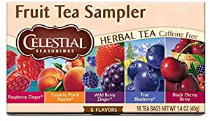 Celestial Seasonings Herbal Tea, Fruit Tea Sampler, 18 Count (Pack of 6)