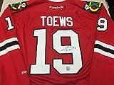 Jonathan Toews Autographed Signed Chicago Blackhawks Authentic Reebok Jersey Frameworth Player Hologram