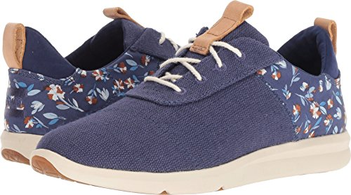 TOMS Women's Cabrillo Deep Cobalt Vintage Flower/Heritage Canvas 8 B US by TOMS