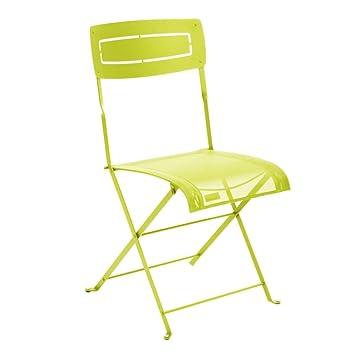 Fermob Chaise Slim Verveine L 53 49 H 88 Cm