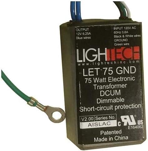 GE 66947 Lightech LET 75 GW Ground Wire (12V/75W) GELT75A12012GW 66947 Halogen Lighting Transformer